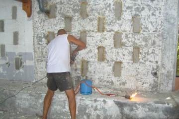 Galerie: Renovierung in Rot renovation 09 0005a Finca Argayall (La Gomera)