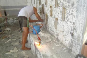 Galerie: Renovierung in Rot renovation 09 0005b Finca Argayall (La Gomera)