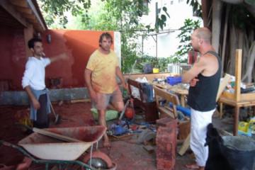 Galerie: Renovierung in Rot renovation 09 0009 Finca Argayall (La Gomera)