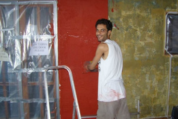 Galerie: Renovierung in Rot renovation 09 0009a Finca Argayall (La Gomera)