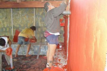Galerie: Renovierung in Rot renovation 09 0009f Finca Argayall (La Gomera)