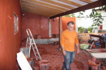 Galerie: Renovierung in Rot renovation 09 0010 Finca Argayall (La Gomera)