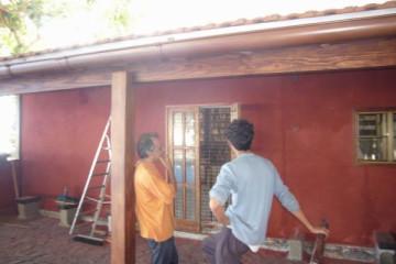 Galerie: Renovierung in Rot renovation 09 0011 Finca Argayall (La Gomera)