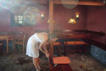Galerie: Renovierung in Rot renovation 09 0015 Finca Argayall (La Gomera)
