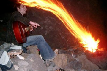 Galerie: Highlights 2004 life fireonbeach01 20041119 Finca Argayall (La Gomera)