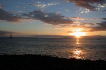 Galerie: Die besten Aussichten 2004 ocean dramaticsunset01 20040121 Finca Argayall (La Gomera)