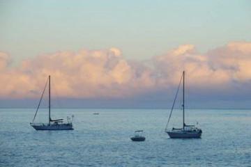 The best views 2004 ocean eveningsea 20040802 Finca Argayall (La Gomera)