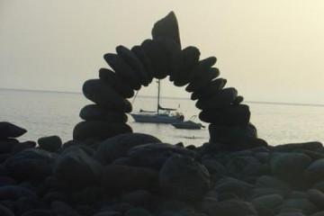 Galerie: Die besten Aussichten 2004 ocean stonemen2 20040825 Finca Argayall (La Gomera)