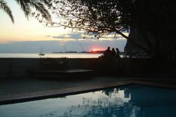 Galerie: Die besten Aussichten 2004 ocean sunsetatharbour 20040223 Finca Argayall (La Gomera)