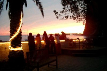 Galerie: Die besten Aussichten 2004 ocean sunsetfromwall 20040123 Finca Argayall (La Gomera)