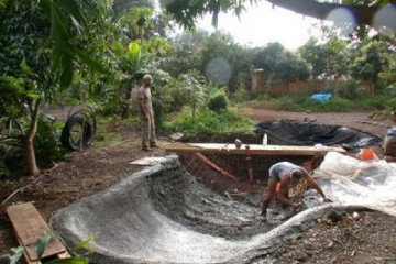 Galerie: Projekte 2003-2004 projects pond02 20040405 Finca Argayall (La Gomera)