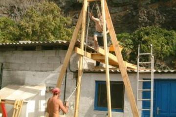Galerie: Projekte 2003-2004 projects sessionhut02 20040210 Finca Argayall (La Gomera)