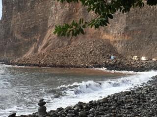 Finca im lockdown durch Erdrutsch landslide Argayall Finca Argayall (La Gomera)