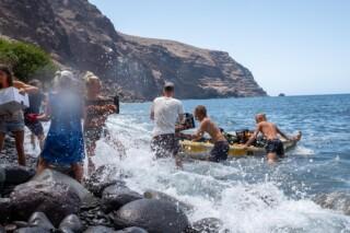 Neun Monate und kein bißchen weiter... shopping in waves 08.21 Finca Argayall (La Gomera)