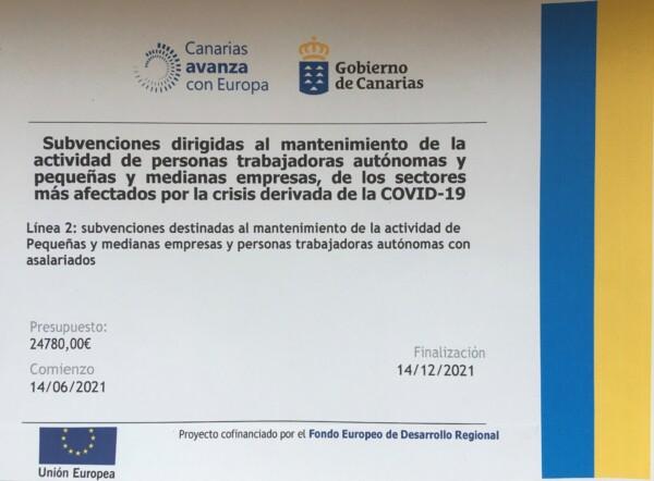 EU Covid Subvention subvention pic for website Finca Argayall (La Gomera)