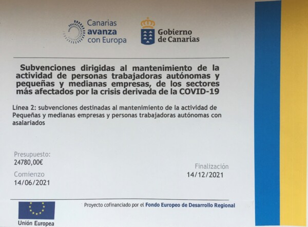 Subvention für unser Hotel subvention pic for website Finca Argayall (La Gomera)
